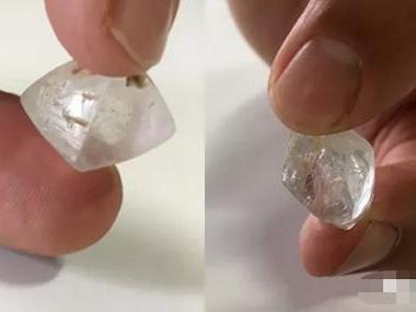 抛光托帕石冒充钻石原石-托帕石(黄玉)